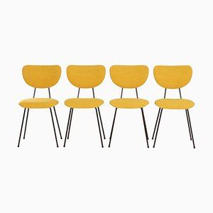 Yellow Dining Chairs model 101 by Gispen for Kembo, 1950s, Set of 4