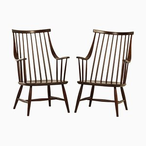 Swedish Armchairs by Lena Larsson for Nesto, 1960s | Set of 2