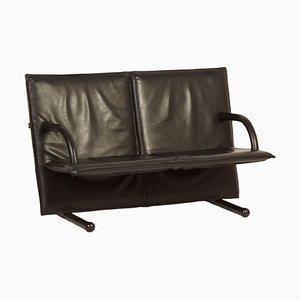 Leather Two-Seater Sofa by Burkhard Vogtherr for Arflex, 1980s