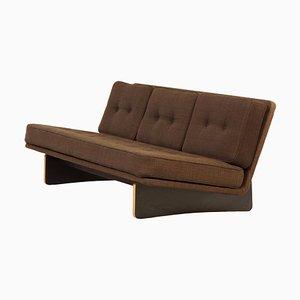 671 Sofa von Kho Liang le für Artifort, 1960er | Dreisitzer Sofa mit Braunem Ploeg Stoffbezug
