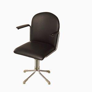 Chaise de Bureau 356 en Cuir Noir par WH Gispen, 1950s