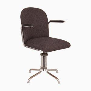 Chaise de Bureau Gispen 356 Grise par WH Gispen, 1930s