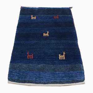 Modern Hand-Knotted Gabbeh Ghashgai Carpet, 2001