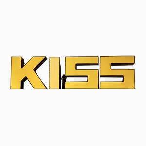 3-Dimensional Illuminated KISS Signs, 1950s, Set of 4