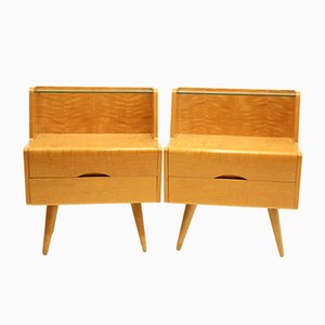 Nightstands by Bohumil Landsman, 1960s, Set of 2