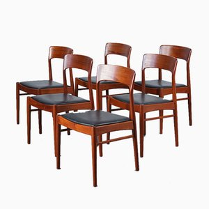 Mid-Century Teak 26 Dining Chairs by Henning Kjærnulf for Korup Stolefabrik, Set of 6