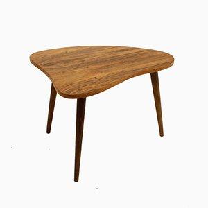 Mid-Century Walnut Tripod Coffee Table, 1960s