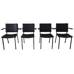 Vintage Industrial Armchairs by Gerrit Veenendaal for Kembo, 1960s, Set of 4