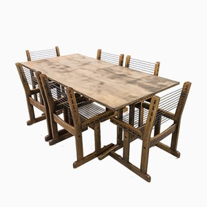 Vintage Shaker Dining Table & Chairs Set from Søborg Møbelfabrik, Set of 7
