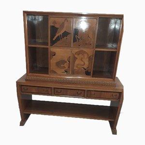 Holz und Alabaster Sideboard von Cassi Ramelli für Anzani, 1940er