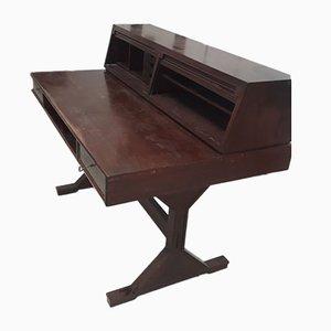 Mid-Century Palisander Schreibtisch von Gianfranco Frattini für Bernini, 1950er
