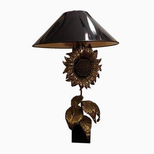 Golden Sunflower Table Lamp, 1970s