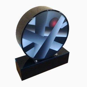 Runde Tischlampe aus Plexiglas, 2000er