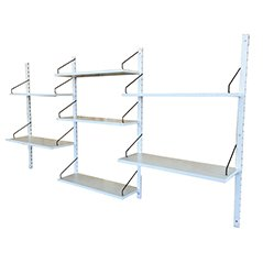 White Royal System Shelving Unit by Poul Cadovius for Cado