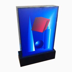 Red, White, and Blue Plexiglass Table Lamp, 2000s