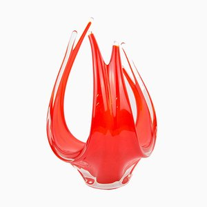 Mid-Century Glass Vase from Made Murano Glass