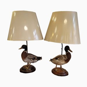 Duck Table Lamps, 1960s, Set of 2