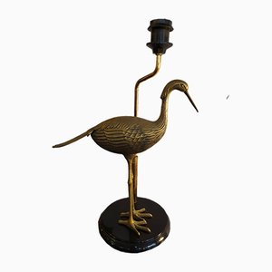 Brass Heron Table Lamps, 1970s, Set of 2