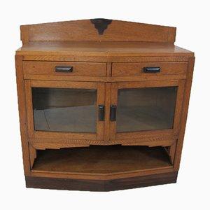 Art Deco Oak, Ebony & Rosewood Cabinet, 1920s