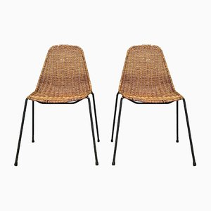 Mid-Century Basket Side Chairs by Gian Franco Legler, 1950s, Set of 2