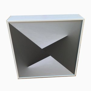 Gray and White Iron and Plexiglass Sconce, 2000s