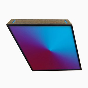 Blue and Pink Iron and Plexiglass Table Lamp, 2000s