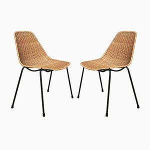 Basket Side Chairs by Gian Franco Legler, 1950s, Set of 2