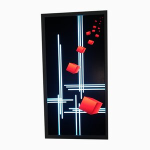 Red and Blue Plexiglass Sconce, 2000s
