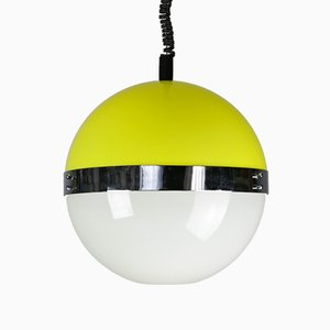 Vintage Space Age Yellow Pendant Lamp