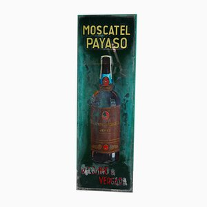 Hand-Painted Moscatel Payas Poster Sign from Palominio & Vergara, 1940s