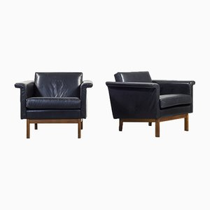 Mid-Century Swedish Modern Lounge Chairs by Karl-Erik Ekselius for JOC Vetlanda, Set of 2