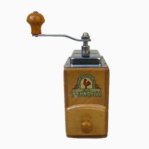 Molinillo de café de madera y cromo de CA Lehnartz, años 50