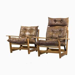 Moderne skandinavische Mid-Century Armlehnstühle, 2er Set
