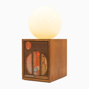 Pearl and Speaker Table Lamp by Nils J Lind, 2018