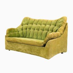 Mid-Century Space Age Velvet Sofa