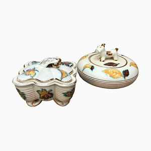 Italian Modern Ceramic Deruta Boxes, 1960s, Set of 2