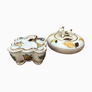 Italienische Modern Keramik Deruta Kästen, 1960er, 2er Set