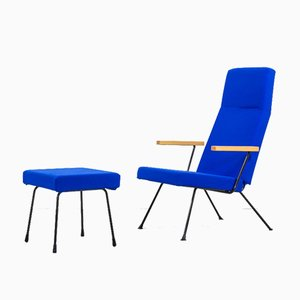Mid-Century Model 1410 Armchair & Ottoman by André Cordemeyer / Dick Cordemeijer for Gispen, Set of 2