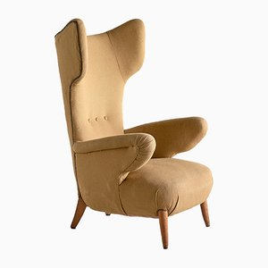 Mid-Century Italian Wingback Armchair by Ottorino Aloisio for Colli Torino, 1957