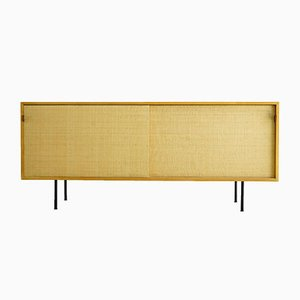 Ash and Seagrass Model 116 Sideboard by Florence Knoll Bassett for Knoll Inc. / Knoll International, 1950s