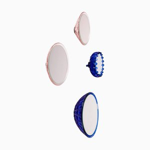 Saturn 218d, 155a, 155a, & 157c Wall Mirrors by Andreas Berlin, Set of 4
