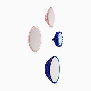 Specchi da parete Saturn 218d, 155a, 155a e 157c di Andreas Berlin, set di 4