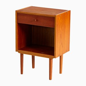 Vintage Danish Teak Nightstands, 1960s, Set of 2
