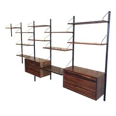 Rosewood Wall Unit by Poul Cadovius for Royal System, 1964