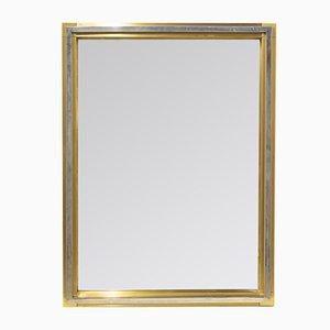 Chromed Steel & Brass Mirror, 1970s