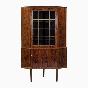 Mid-Century Danish Rosewood Veneer Corner Cabinet, 1960s