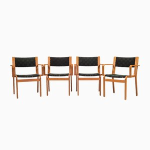 Vintage Canvas Armchairs by Rud Thygesen & Johnny Sørensen for Magnus Olesen, Set of 6