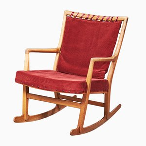 Mid-Century Danish Oak ML-33 Rocking Chair by Hans J. Wegner