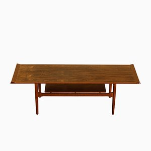 Rosewood and Teak Coffee Table by Ib Kofod-Larsen for Christensen & Larsen, 1950s