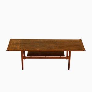 Rosewood and Teak Coffee Table by Ib Kofod-Larsen for Christensen & Larsen, 1950s
